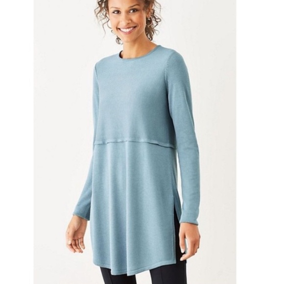 J. Jill Sweaters - J.Jill Grace Sweater Tunic in French Blue